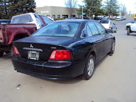 2003 MITSUBISHI GALANT DE MODEL 2.4L AT FWD COLOR BLACK 143652