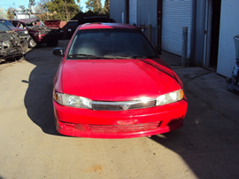 2001 MITSUBISHI MIRAGE 4 DOOR SEDAN ES MODEL 1.8L AT FWD COLOR RED STK 133621