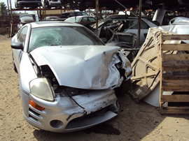 2003 MITSUBISHI ECLIPSE GS MODEL COUPE 2.4L 4CYL AT FWD COLOR SILVER STK 133623