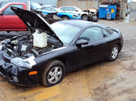 1997 MITSUBISHI ECLIPSE RS 4CYL, 5 SPEED TRANSMISSION, COLOR BLACK STK# 103477