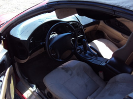 1999 MITSUBISHI ECLIPSE SPYDER CONVERTIBLE 2.4L AT COLOR RED STK 113573
