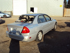 1999 MITSUBISHI MIRAGE LS MODEL 4 DOOR SEDAN 1.8L AT FWD COLOR SILVER STK 113586