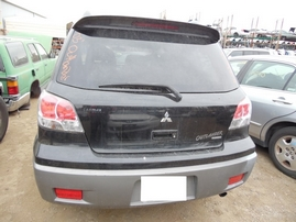 2003 MITSUBISHI OUTLANDER XLS BLACK 2.4L AT 4WD 173825