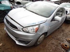 2017 MITSUBISHI MIRAGE ES HATCHBACK SILVER 1.2 AT 213993