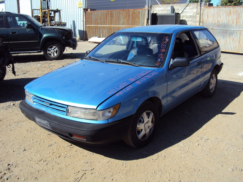 1991 DODGE COLT 2 DOOR HATCHBACK STANDARD MODEL 1.5L MT 5SPD FWD COLOR BLUE STK # 133626 ...