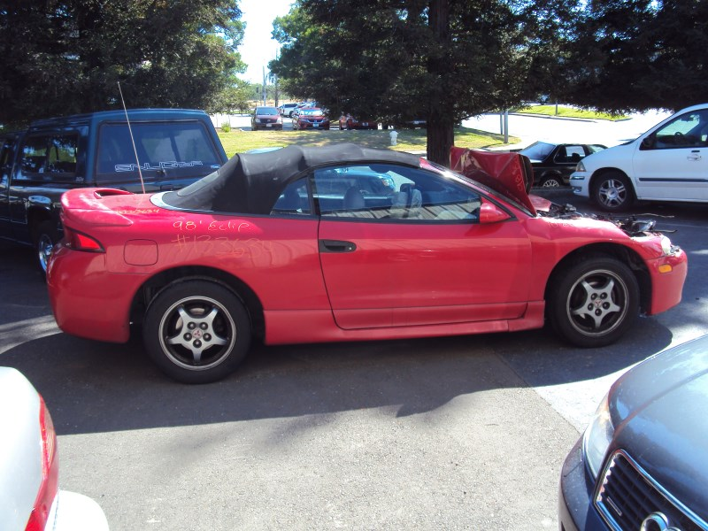 1998 mitsubishi eclipse convertible gst spyder model 2 0l dohc turbo at fwd color red 133634 mitsubishi parts recycling m s recycling