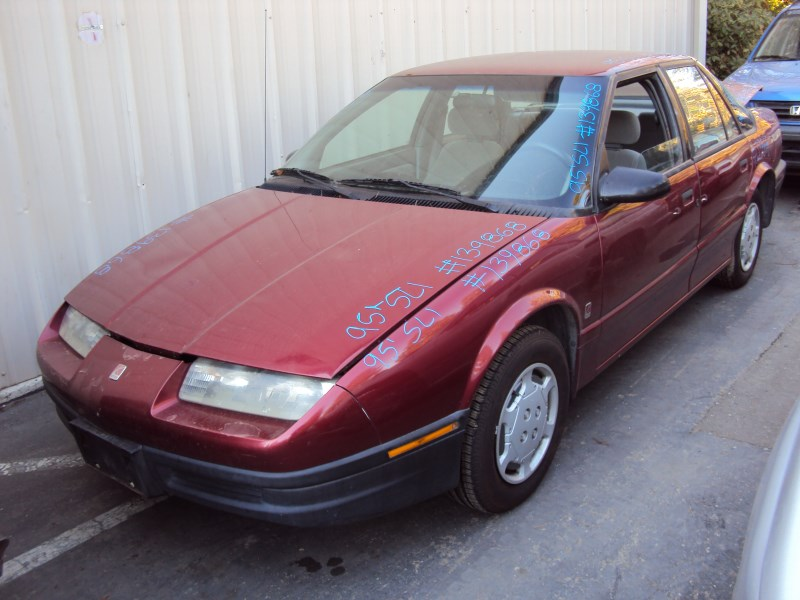 1995 Saturn 4 Door Sedan Sl1 Model 1 9l Sohc At Fwd Color Red 139868