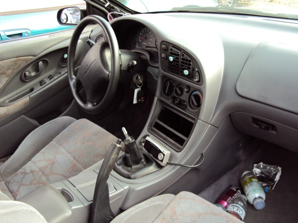 1997 MITSUBISHI ECLIPSE TURBO, 5 SPEED TRANSMISSION, COLOR