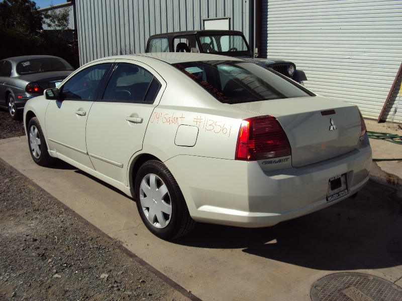 2004 MITSUBISHI GALANT 2.4L ENGINE, AUTOMATIC TRANSMISSION, COLOR WHITE, STK# 113561 ...