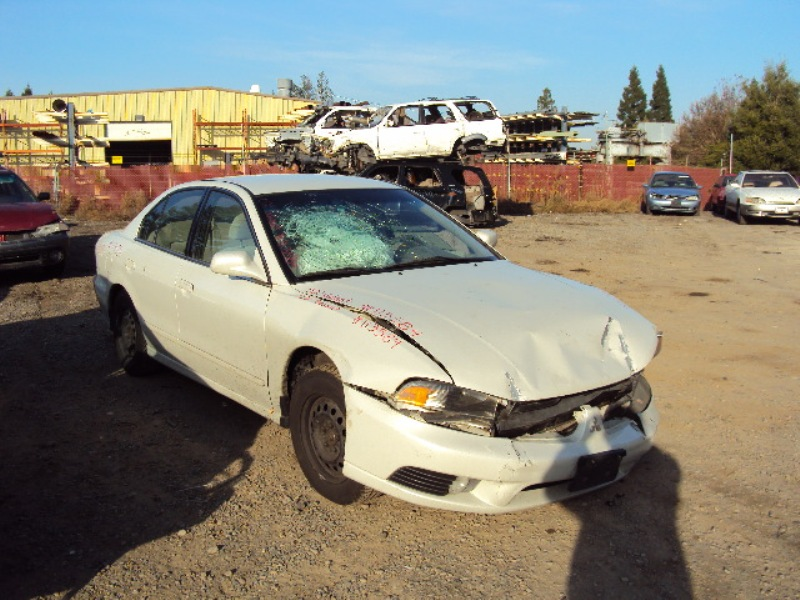 2002 mitsubishi galant es model 2 4l at color white stk 113584 mitsubishi parts recycling m s recycling