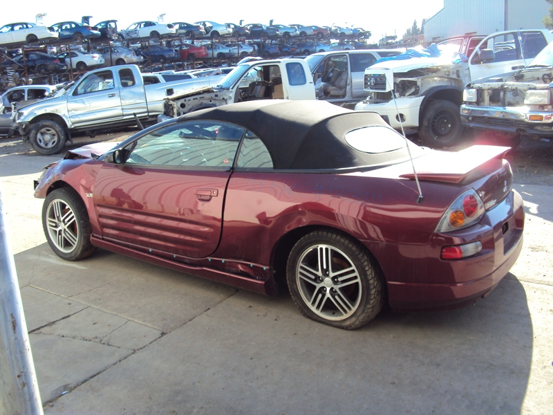 Great 2003 MITSUBISHI ECLIPSE GTS MODEL SPYDER CONVERTIBLE 3.0L V6 MT FWD COLOR  RED STK 123611 ...