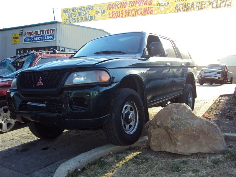 2000 mitsubishi montero sport 3 0l auto 4dr 2wd color green stk 143685 mitsubishi parts recycling m s recycling