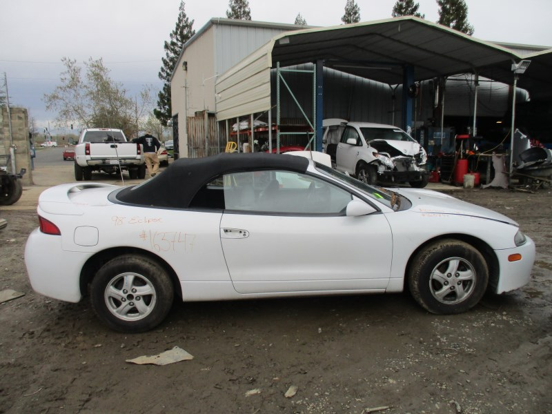 1998 mitsubishi eclipse spyder gs white 2 4l at 163747 mitsubishi parts recycling m s recycling