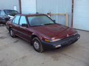 1988 HONDA ACCORD DX MODEL 4 DOOR SEDAN 2.0L AT FWD COLOR MAROON STK A13043