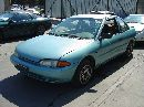 1995 MITSUBISHI MIRAGE 2 DOOR COUPE 1.5L MT FWD COLOR GREEN