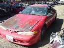 1992 mitsubishi eclipse rs model 1.8l mt 2 door coupe color red