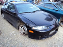 1997 MITSUBISHI ECLIPSE TURBO, 5 SPEED TRANSMISSION, COLOR BLACK, STK # 10351