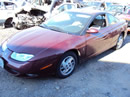 2002 SATURN SC2 COLOR-MAROON STK# 109779