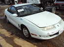 1997 SATURN SC2 4CYL ENGINE, MANUAL TRANSMISSION, COLOR WHITE, STK # 119793