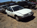 1999 SATURN SL1 4 DOOR 1.9 L ENGINE SOHC, MANUAL TRANSMISSION, COLOR - WHITE , STK # 119797