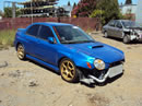 2002 SUBARU IMPREZA WRX 2.0L TRB AWD MANUAL TRANSMISSION COLOR BLUE STK U11004