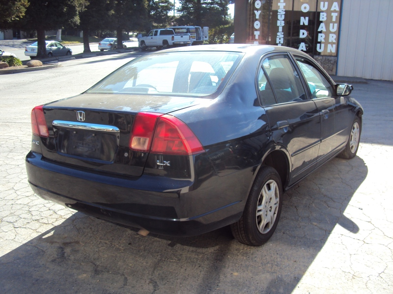 2001 HONDA CIVIC 4 DOOR SEDAN LX MODEL 1.7L AT FWD COLOR BLACK STK A13042  ...