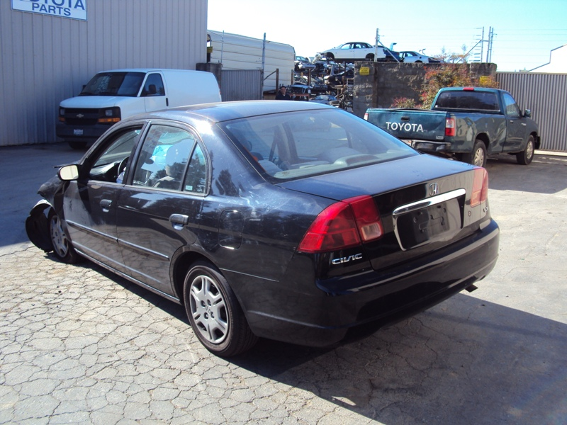 ... 2001 HONDA CIVIC 4 DOOR SEDAN LX MODEL 1.7L AT FWD COLOR BLACK STK  A13042