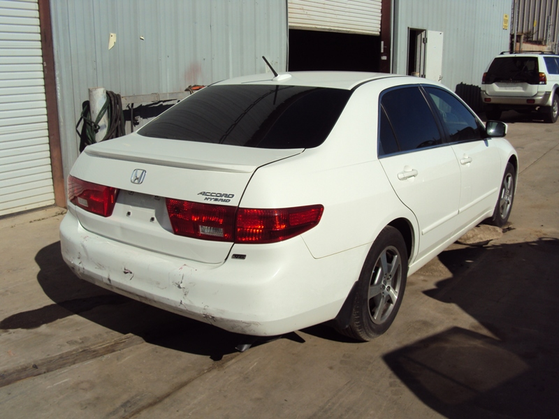 2005 Honda Accord 4 Door Sedan Hybrid E Model 3 0l At Color White Stk A13044
