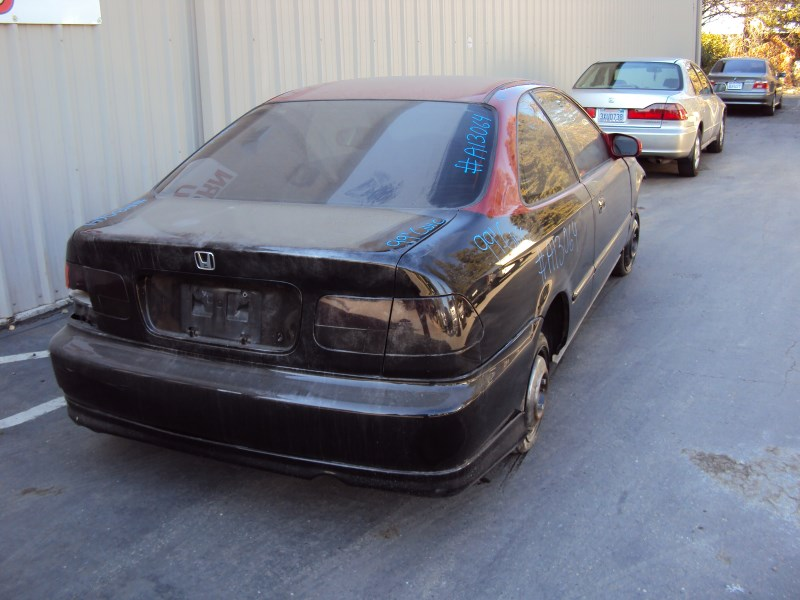 2001 HONDA CIVIC 2 DOOR COUPE EX MODEL 1.6L VTEC MT FWD COLOR BLACK A13064  ...