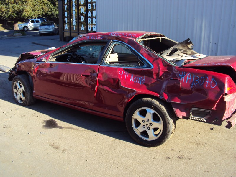 1999 HONDA ACCORD 2 DOOR COUPE EX MODEL 3.0L V6 AT FWD COLOR RED A13070- RANCHO Honda-Acura ...