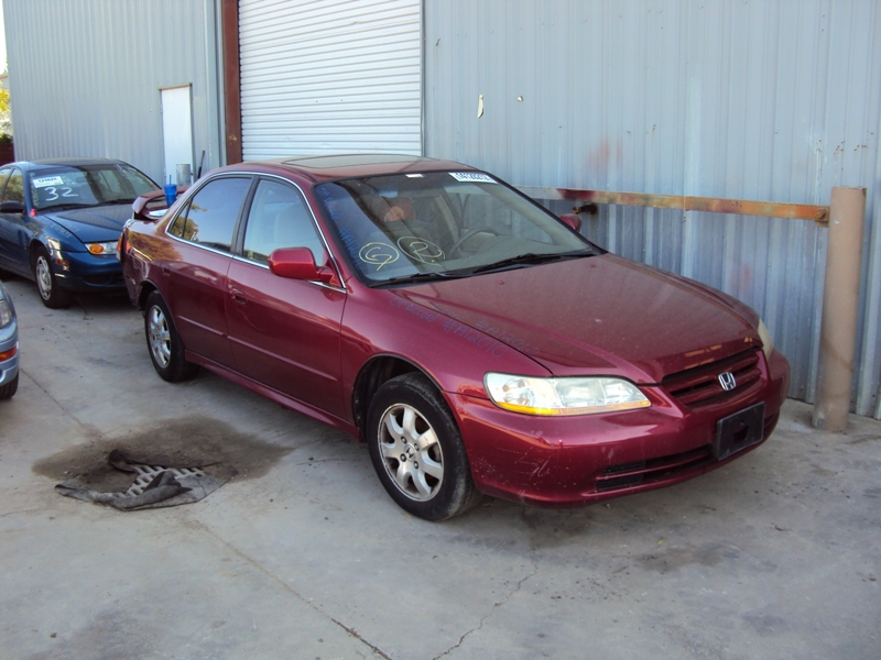 2001 honda accord 4 door sedan 2 3l at color burgundy stk for Burgundy honda accord