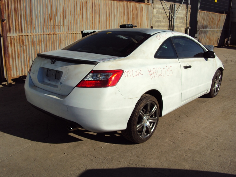 2009 HONDA CIVIC LX MODEL 2 DOOR COUPE 1.8L AT FWD COLOR WHITE STK A12035  ...