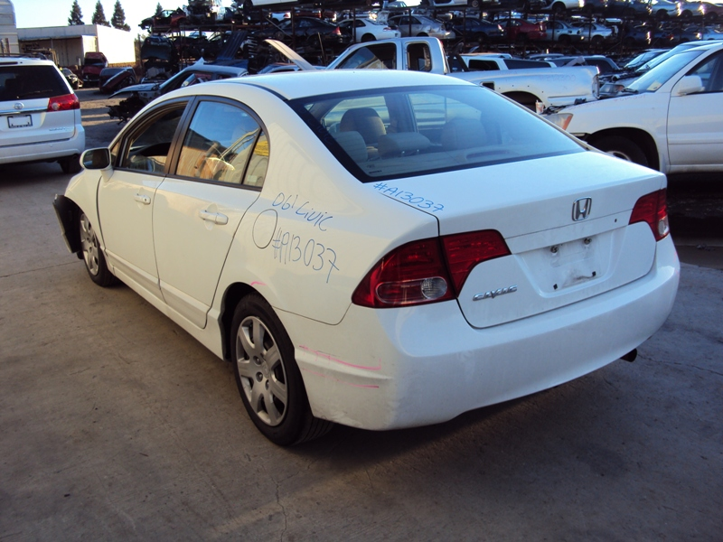 2006 Honda Civic 4 Door Sedan 1 8l At Color White Stk A13037