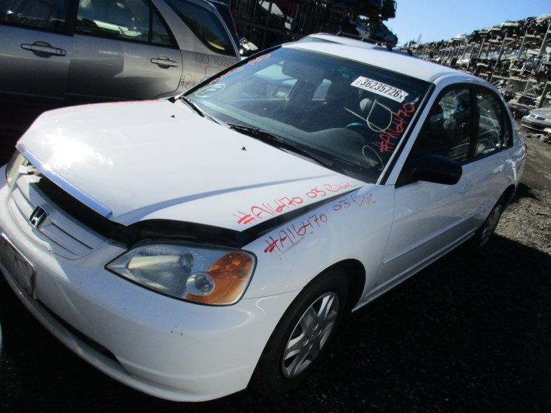 2003 honda civic lx white 4dr 1 7l mt a16470 rancho honda acura recycling. Black Bedroom Furniture Sets. Home Design Ideas