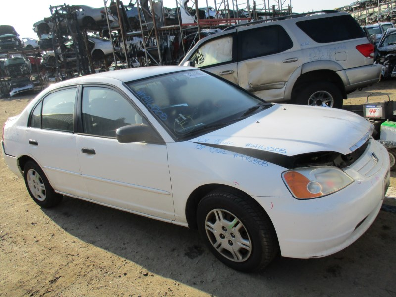 2001 honda civic lx white 4dr 1 7l at a16505 rancho honda acura recycling. Black Bedroom Furniture Sets. Home Design Ideas
