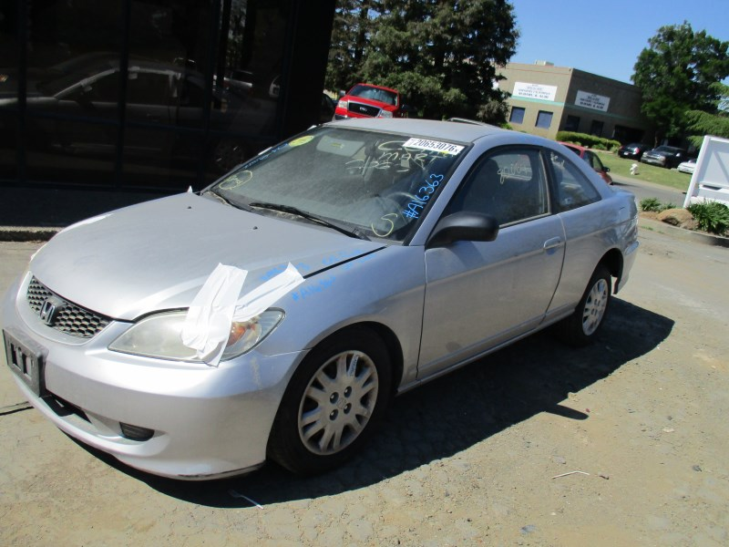 2004 honda civic lx silver 2dr 1 7l mt a16363 rancho honda acura recycling. Black Bedroom Furniture Sets. Home Design Ideas