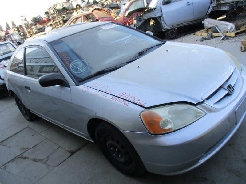 2001 honda civic lx silver 2dr 1 7l at a15266 rancho honda acura recycling. Black Bedroom Furniture Sets. Home Design Ideas