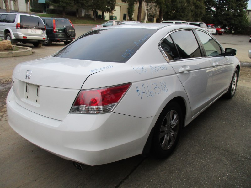2008 honda accord lx p white 2 4l at a16318 rancho honda acura recycling. Black Bedroom Furniture Sets. Home Design Ideas