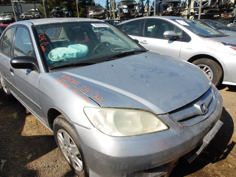 2004 HONDA CIVIC DX SILVER 1.7L AT A18764 ...