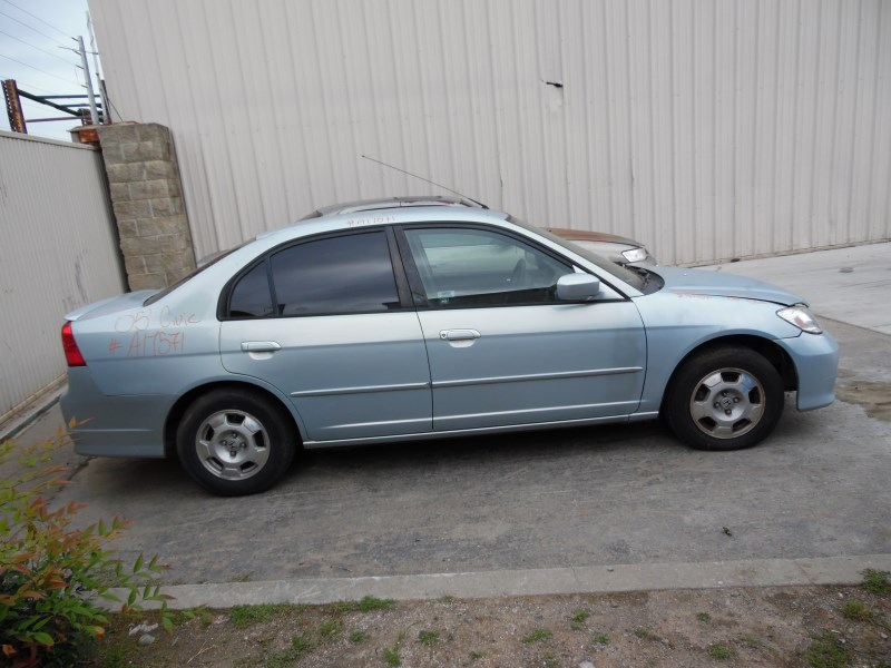 2005 HONDA CIVIC HYBRID SKY BLUE 4DR 1.3L AT A17571 ...